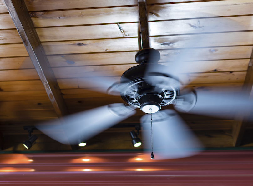 use your ceiling fan with your ac unit to reduce electric bills